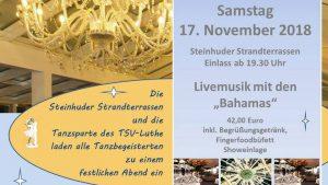 """Steinhude, es darf wieder getanzt werden - 2. Auflage des Tanzballs """"Winterzauber"""" @ Strandterrassen Steinhude"""
